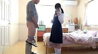 Japanese Mother and Dad Fuck while Daughter Theria Class