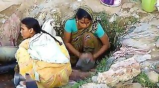 Indian masseur strips off client outdoors
