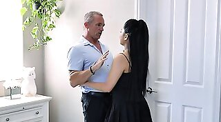Daddy Daughter Fucks two Asian Step