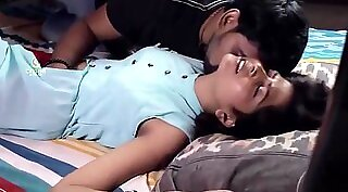 Wife fucking on her bed with husband and brother