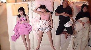 Japanese sleeping teen fucked hard