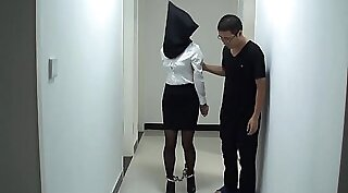Asian teen in messy bondage whipping