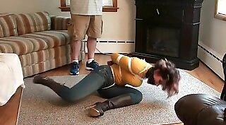 Bondage Girl Pisses Pantyhose