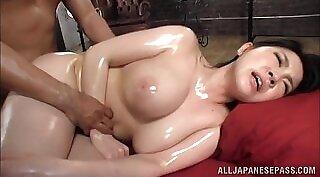 Cute Japanese Schoolgirl Getting Her First Oil massage