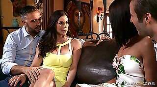 Training our sexy chick Kendra Lust AND my cock