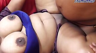Burying fat white dick in aunt with big boobs