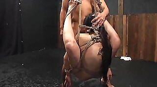 Big titted Japanese ts Curtis Pain hammered by faggots