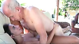 Young blonde Sara loves having a mouthful quickie ride