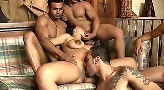 Hot latina rides with her hot gang bang and getting pregnant