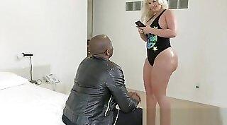 Blonde Milf Takes Big Black Cock Deep in Ass
