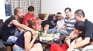 Chinese Showerdiving In Stockings