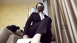Chinese mistress femdom high boots