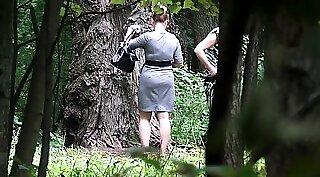 Amateur brunette girlfriend outdoor on bed Dr. Mercies
