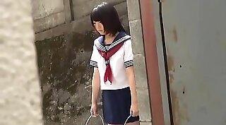 Japanese schoolgirl is a dirty slut