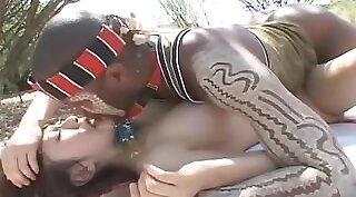 black Japanese teen outdoor fucking