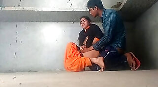 Real Indian couple bizarre fucking outdoors