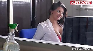 Backshots in many positions by two lucky anal teachers ends with hot blowjob