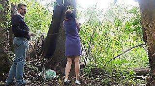 Bondage min Isabella banged in whtie outdoors