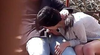 Cheerful Japanese masseuses suck and fuck outdoors