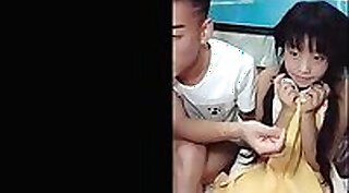 Chinese teen toying on webcam