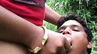 Alison sucking cock and gets her pussy fucked outdoors - Taste the cum